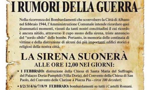 """Albano Laziale, """"Rumori di guerra"""""""
