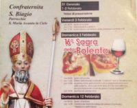 """Rocca Priora – Festeggiamenti di San Biagio e """"16ª Sagra della Polenta"""""""