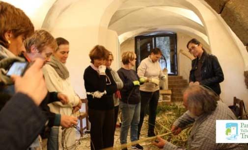 Il Parco del Treja – Mastro cestaio all'opera – imparare a fare i cesti