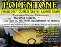 Castel di Tora apre le sue porte per celebrare il prelibato polentone
