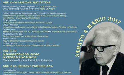 """Palestrina – """"Giornata di studi in Onore di Lino Bianchi"""""""