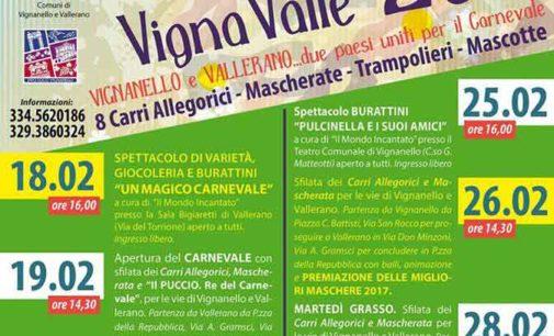Torna a Vignanello e Vallerano il doppio Carnevale di VignaValle