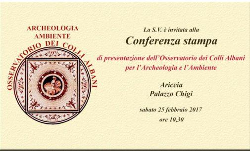 Ariccia, Presentazione dell'Osservatorio dei Colli Albani per l'Archeologia e l'ambiente