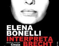 """Elena Bonelli """"Interpreta Brecht"""" al Teatro dell'Angelo di Roma"""