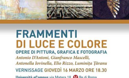 """Mostra """"Frammenti di Luce e Colore """" – Università E – Campus Roma"""