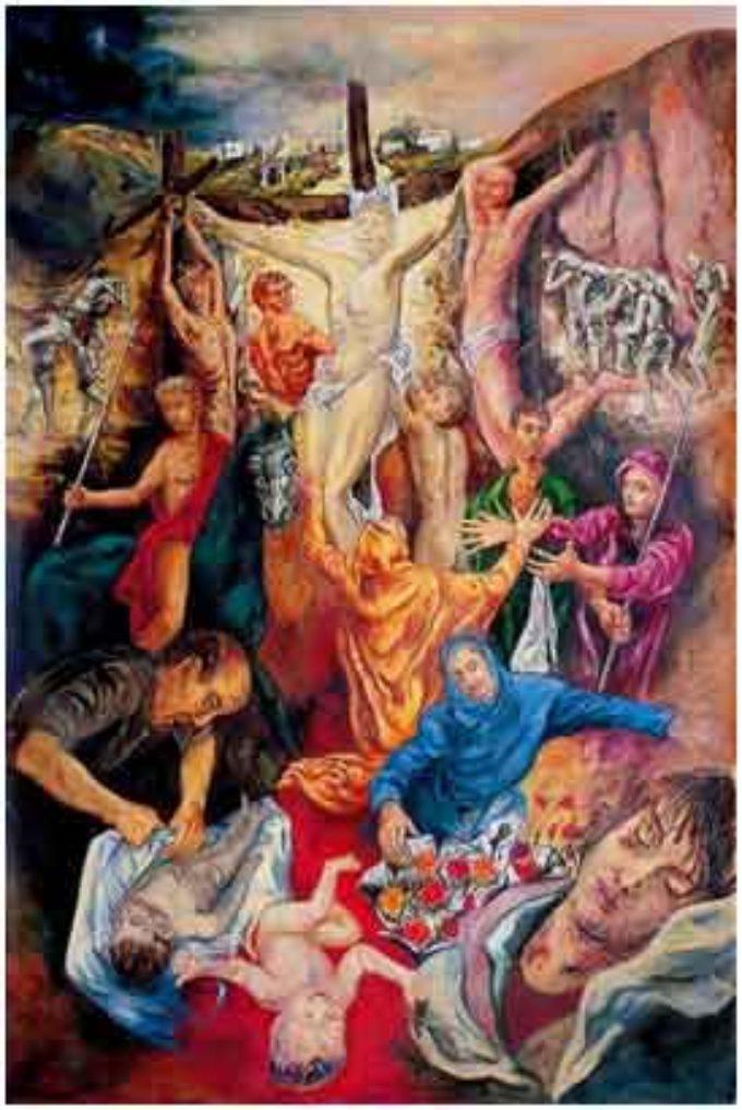 """Ardea. La Crocifissione di Guadagnuolo esposta  al Centro di cultura """"domus Danae"""""""