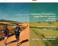 Castel Gandolfo – Conferenza di Presentazione della Legge  sulla Rete dei Cammini nel Lazio