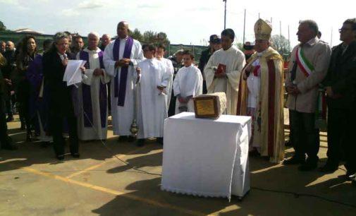 Ardea, posta la prima pietra della Chiesa della Castagnetta