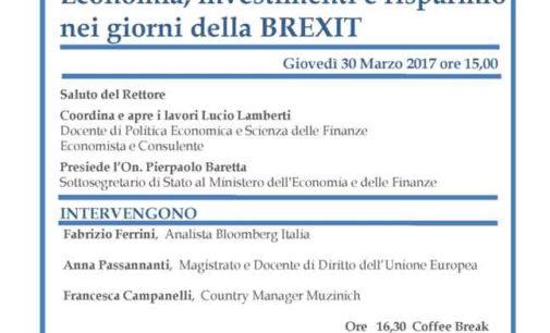 Riflexit. Economie, Investimenti, Risparmio Nei Giorni Della Brexit