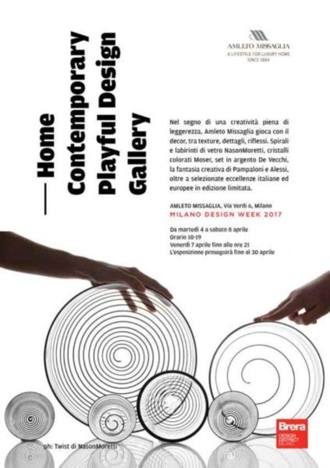 Amleto Missaglia  Home Contemporary Playful Design Gallery
