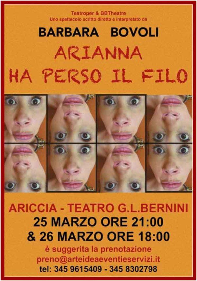 Teatro G.L. Bernini – Arianna ha perso il filo