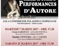TORNA CASTELLI DI SCRITTORI CON PERFORMANCES D'AUTORE
