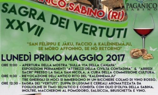 """""""Calendimaggio"""" e Sagra dei Vertuti, antiche usanze a Paganico Sabino (RI)"""