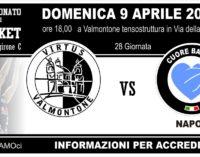 Basket: serie b; domenica big match Valmontone – Napoli; comuicato congiunto delle società