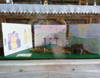 Gavignano – Il Sepolcro a personaggi  realizzato dagli alunni della scuola media
