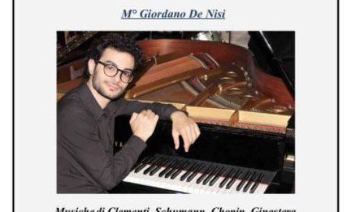 Il pianista Giordano De Nisi a Ciampino