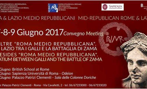 Convegno  Oltre Roma medio repubblicana.  Il Lazio tra i Galli e la battaglia di Zama