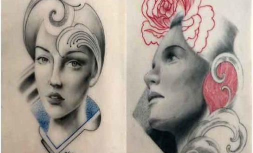 È Gabriele Pellerone il primo artista a creare opere d'arte e ritratti su pelle