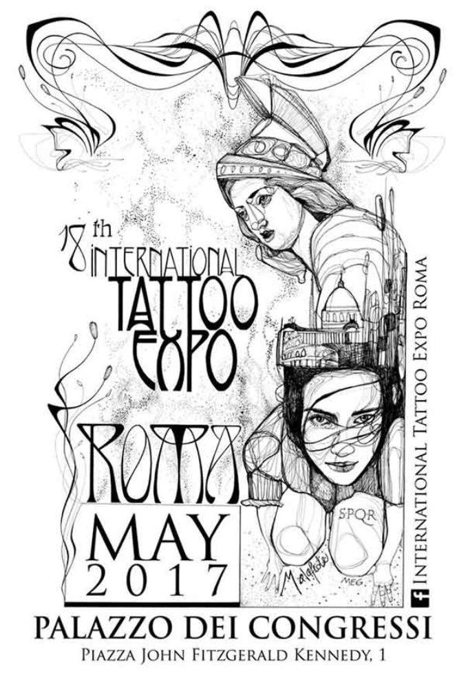 Roma per la XVIII Edizione dell'international Tattoo Expo Roma