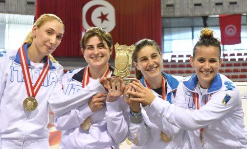 Frascati Scherma: sciabolatrici in trionfo nella prova di Coppa del Mondo a Tunisi