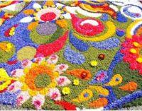Poggio Moiano (RI) diventa una tela d'artista con l'Infiorata del Sacro Cuore