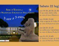 Sere d'estate al Museo.  Apertura serale straordinaria di Villa Giulia e di Villa Poniatowski