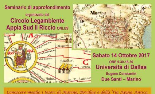 Il territorio di Marino: beni archeologici, storici, artistici e naturali da valorizzare
