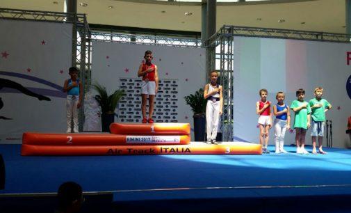 La dirigenza esprime grande soddisfazione per il titolo nazionale conquistato a Rimini nel trampolino elastico.