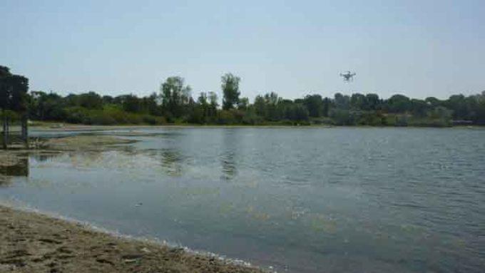 Monitoraggi con il drone sul lago di Bracciano