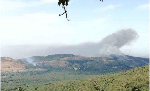 A fuoco i Monti Tuscolani