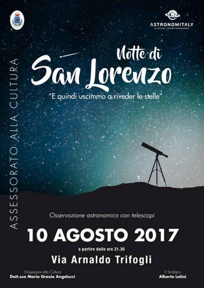 A Valmontone, per osservare le stelle cadenti di San Lorenzo
