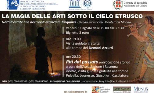 Notti d'estate alla necropoli etrusca di Tarquinia