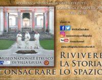 Villa Giulia protagonista per un pomeriggio della rievocazione storica