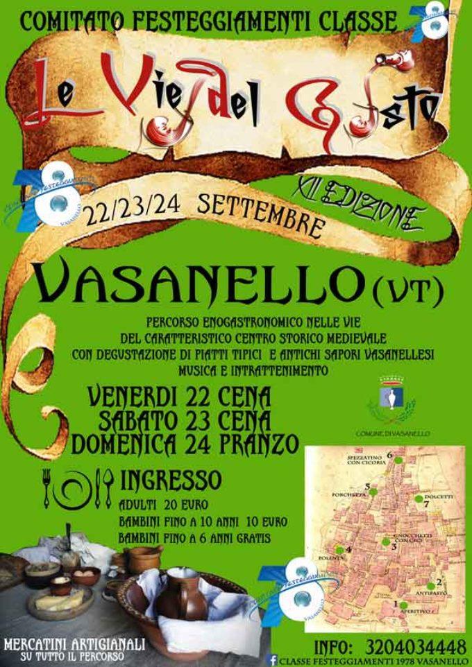 Vasanello, Motoraduno e Vie del Gusto