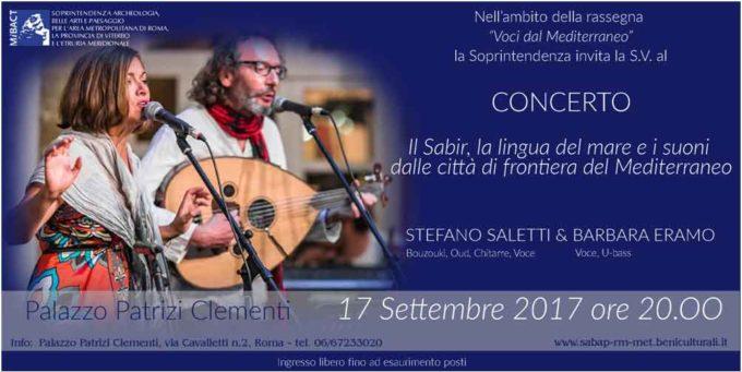 Concerto di Stefano Saletti & Barbara Eramo