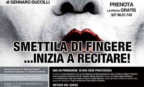Open day del corso di teatro di Gennaro Duccilli alla Casa delle Culture e della Musica a Velletri