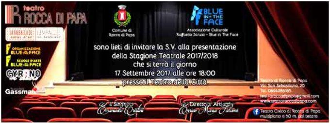 Teatro Civico di Rocca di Papa. Presentazione delle attività per la stagione 2017/2018