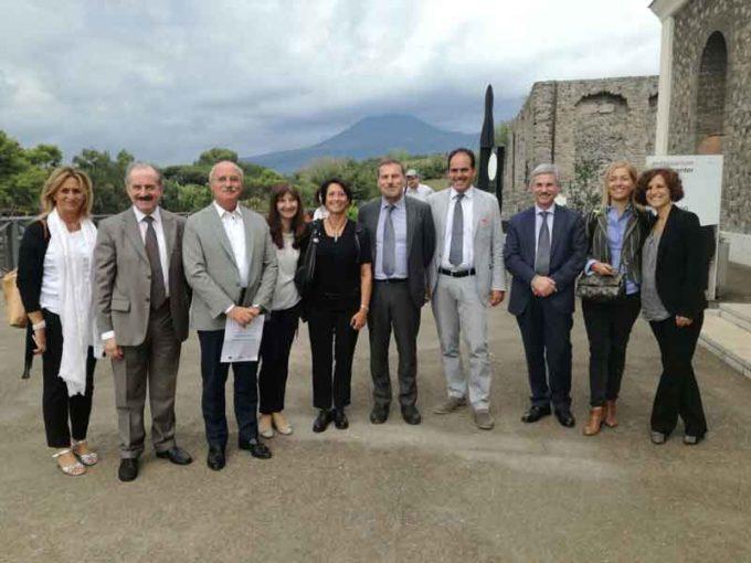 La VII Commissione del Senato in visita a Pompei