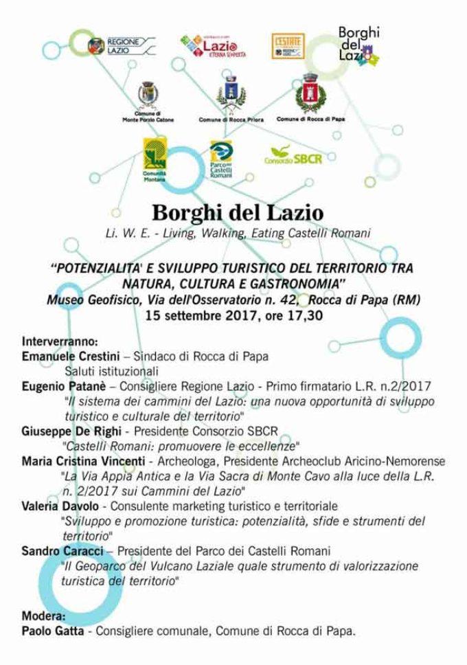 Rocca di Papa: il seminario sul marketing turistico e territoriale