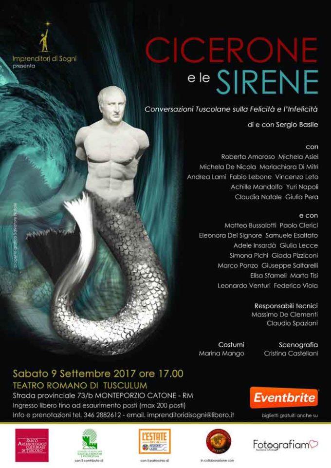 """""""Cicerone e le Sirene"""", un nuovo evento a Tuscolo"""