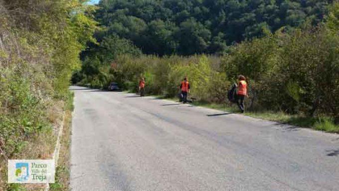 Il personale del Parco ripulisce la strada provinciale e Monte Gelato