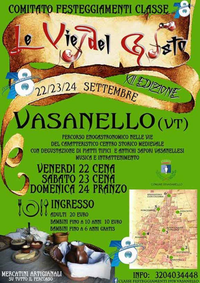 Vie del Gusto, sette tappe alla scoperta delle tipicità locali di Vasanello