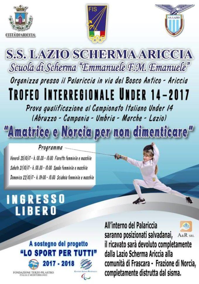 1a Prova Interregionale Under 14 di Scherma #GPGARICCIA2017