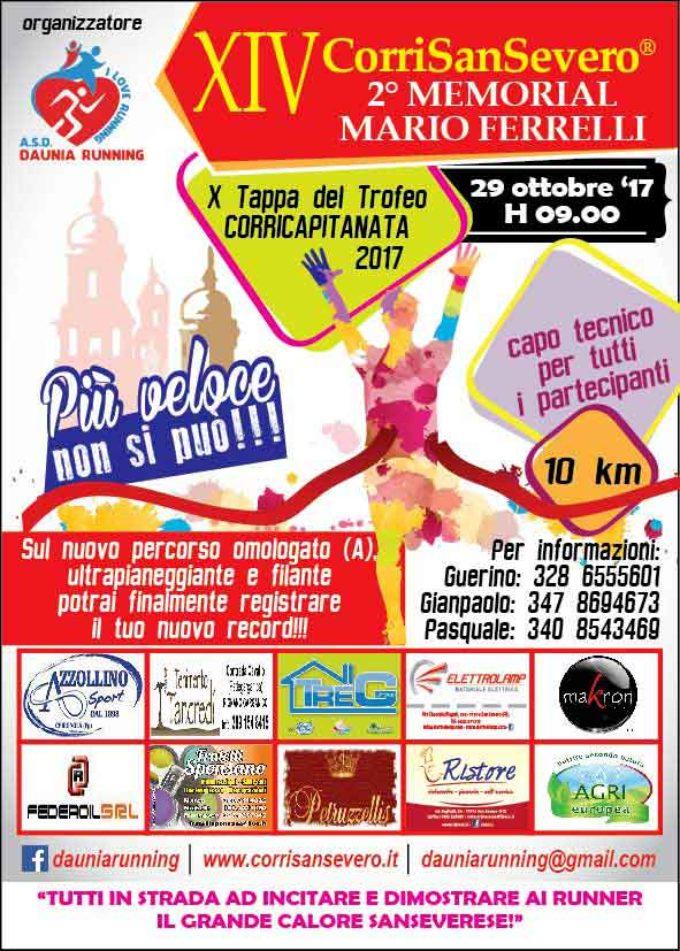 XIV^ Corri San Severo 10km, 10^ Tappa CORRICAPITANATA 2017