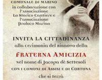 La Citta' di Marino rinnova l'amicizia con Assisi e Cortona