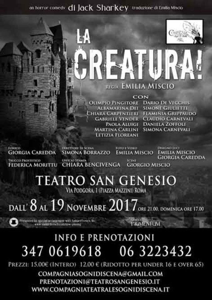Teatro San Genesio – La creatura!