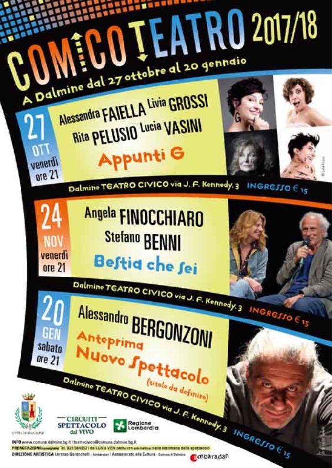 COMICO TEATRO 2017/18 | 27 ottobre – 20 gennaio | Dalmine (BG) – Teatro Civico