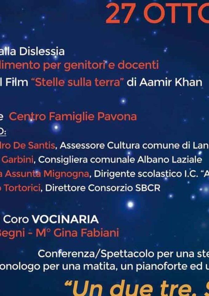 """Albano – Un venerdì a un passo dal cielo con l'iniziativa """"Un, due, tre… Stella"""""""