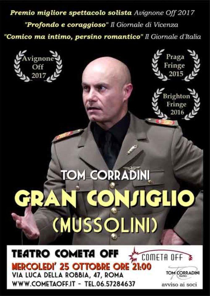 Gran Consiglio (Mussolini) sarà in scena al Teatro Cometa Off di Roma
