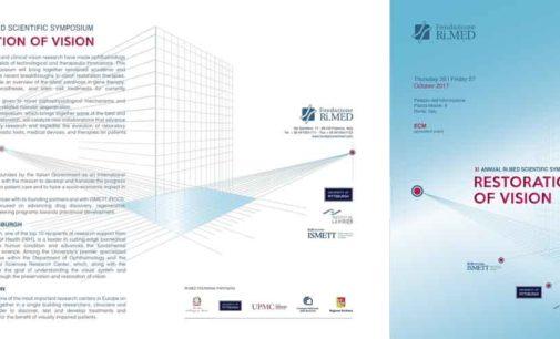 """Undicesima edizione del Simposio Scientifico Ri.MED, """"Restoration of Vision"""""""